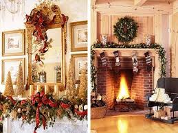 Simple Chimney Christmas Decoration Ideas Contemporary