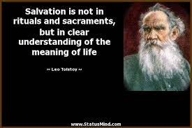 Salvation is not in rituals and sacraments, but in... - StatusMind.com