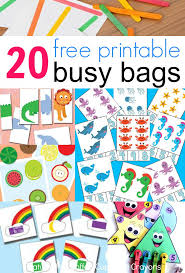 Printable Kids 20 Free Printable Busy Bags Coffee Cups And Crayons