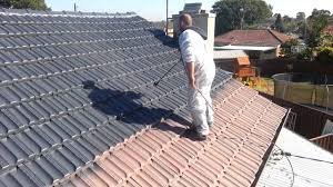 painting terracotta roof tiles step 4 applying dulux paint able roof restoration