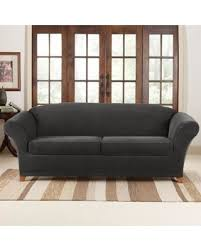 black couch slipcovers. Brilliant Couch Sure Fit Stretch Piqu 2 Seat Individual Cushion Sofa Covers   Slipcovers Black Inside Couch B