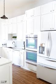white kitchens with white appliances. Beautiful White Whiteonwhite Kitchen  Beautiful White Appliances A Sleek And Modern  Look Fridge Next To Double Wall Oven Throughout White Kitchens With Appliances