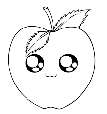 Cute Coloring Pages Of Fruit Coloring Pages In 2019 Apple