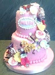 Cake Ideas For Mens 60th Birthday 2 Tier Designs Place Pink First