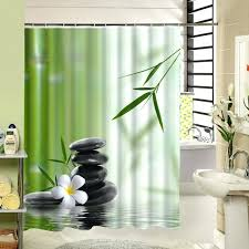 bamboo shower curtains new zen shower curtain stone flower green bamboo bathroom decor fabric printing accessory bamboo shower curtains