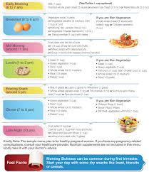Food menu for pregnant women
