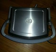 calphalon 5 in 1 removable plate grill model he400cg smooth on one side ridged