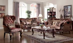 Traditional Living Room 685 Lyon Traditional Living Room Set In Rich Cherry By Meridian