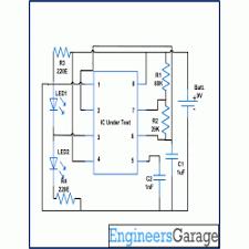 timer ic tester circuit diagram 555timer tester circuit