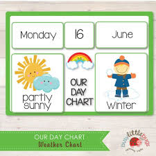 Date Chart For Classroom Our Day Chart Weather Chart By Busy Little Bugs A Great