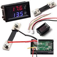 100v 100a dc digital voltmeter ammeter amp volt meter current 100v 100a dc digital blue red led voltmeter ammeter amp volt meter current shunt