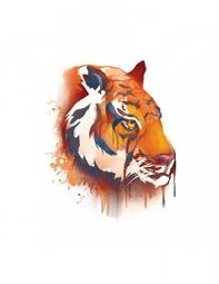 Tygr Vodovkové Nalepovací Tetování