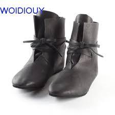 <b>Genuine Leather Women</b> Boots Flat Booties Soft <b>Handmade</b> Real ...
