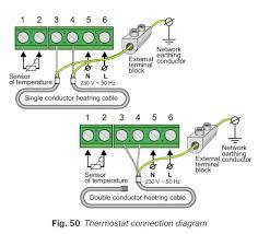 electric under floor heating thermostat thermostat wiring diagram