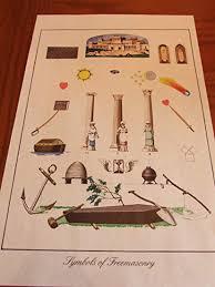Amazon Com Antique Parchment Ancient Masonic Symbols Of