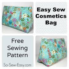Free Bag Patterns Interesting Easy Cosmetics Bag Pattern So Sew Easy