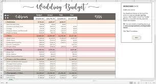 Wedding Budget Template Excel Free Australia Printable