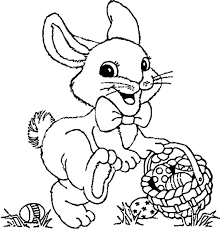 Small Picture Easter Bunny Coloring Pages for kids Easter Bunny Pinterest