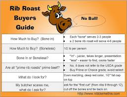 Prime Rib Roast Cooking Times Chart Buying A Rib Roast For A Party This Takes The Guesswork Out