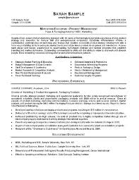 Experience Summary Resume Impressive Marketing Manager Resume
