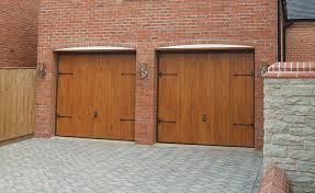grp wood grain garage doors view