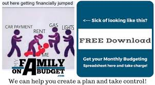 Monthly Personal Budget Spreadsheet Monthly Personal Budget Forms Myfamilyonabudget