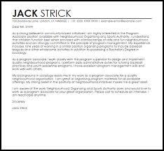Sports Management Cover Letters Program Associate Cover Letter Sample Cover Letter