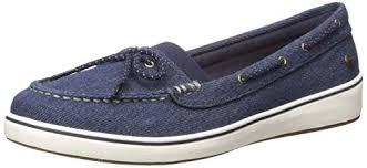 Amazon Com Grasshoppers Womens Augusta Denim Boat Shoe