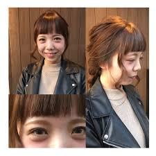 アレンジにも似合うオン眉バング みんなのヘアスタイル