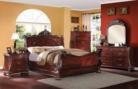 Sleigh Bedroom Furniture Sets Acme 22360q Abramson 4pcs Cherry Queen Sleigh Bedroom Set