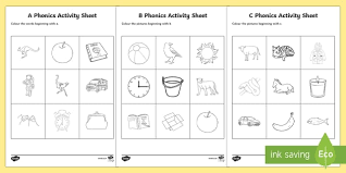 Diy (reusable & easy to make): Reception Phonics Worksheets Colouring Resource Pack