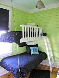 suspended bunk beds for teen room
