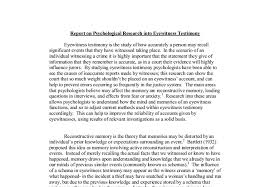 report on psychological research into eyewitness testimony a document image preview