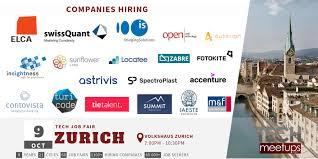 Zurich Tech Job Fair Autumn 2019 Techmeetups