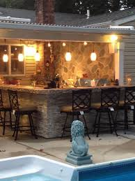 outdoor kitchen lighting. outdoor kitchen bar u0026 patio cover our little piece of paradise lighting
