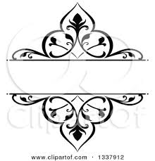 black vintage frame design. Clipart Of A Black And White Ornate Vintage Floral Frame Design Element With Text Space 3 - Royalty Free Vector Illustration By Tradition SM