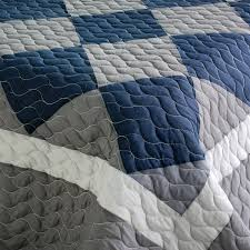 navy and gray comforter | Navy Blue & Grey Colorblock Teen Boy ... & navy and gray comforter | Navy Blue & Grey Colorblock Teen Boy Bedding  Full/Queen Adamdwight.com