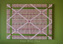 Memo Board With Ribbon Fabric Memo Board StepByStep Photo Tutorial Time With Thea 51