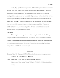 essay on childhood obesity essay sample  5