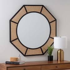 coastal octagon wall mirror