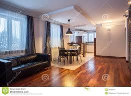 Landhaus Esszimmer Und Wohnzimmer Stockbild Bild Von