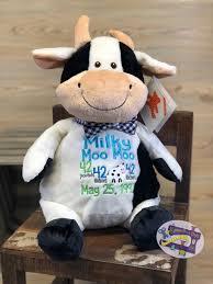 moo moo cow embroider buddy custom