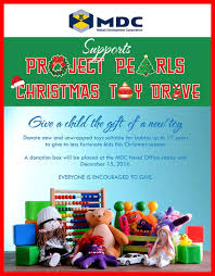 pearls christmas toy drive project pearls we have also joined forces our friends from makati development corporation to bring joy to children in poverty this christmas season thank you mdc