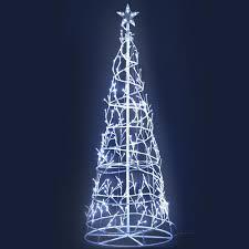 White Led Tree Lights Jingle Jollys 1 85m Led Christmas Tree Lights Xmas 322 Led Cold White Optic Fiber