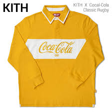 kith nyc the kiss empire city coca cola classic rugby rugby rugby shirt long sleeves men street skating