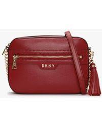 DKNY Sara Sutton Floral Applique Leather Tote Bag in Ivory (White) - Lyst