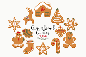 Gingerbread Clip Art Christmas Clip Art Graphic By Sweet Shop Design Creative Fabrica