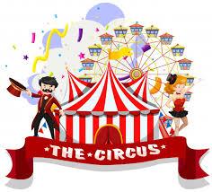 free vector the circus wallpaper scene
