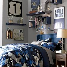 Street Theme Blue And Grey Bedroom