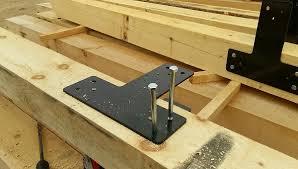 wood beam brackets. Beautiful Brackets Solid Steel Plate Timber Brackets With Wood Beam T